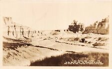 SOUTH DAKOTA DEVIL'S GOLF COURSE IN THE BAD LANDS REAL PHOTO POSTCARD c1920s