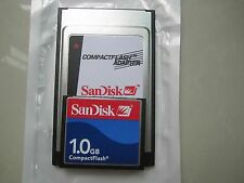 SANDISK 1GB Compact Flash +ATA PC card PCMCIA Adapter JANOME Machines