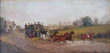 Die Kutschfahrt 1894,Impressionist,signiert
