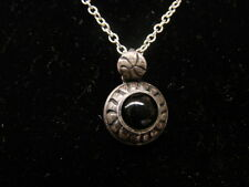 Sterling Silver Blue Stone Pendant Necklace