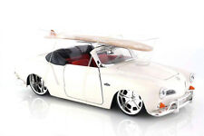 1959 Volkswagen Karmann Ghia Convertible White 1:24 scale Jada Diecast Model