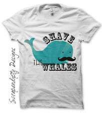 Mustache Iron on Transfer, Shave the Whales Heat Transfer, Kids Boys Tshirt