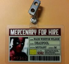 Deadpool ID Badge -Mercenary For Hire Deadpool cosplay prop costume