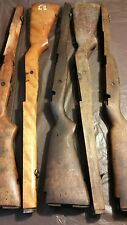 5 military  gun stocks metal liner front swivel walnut wood 1 is birch