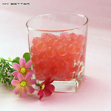 1000 pc (Red) Water Jelly Balls for Toy Guns, Water Beads Mud Grow Jelly Balls