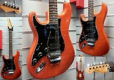 FENDER Custom Shop Stratocaster Deluxe-Sunset Orange-Floyd Rose Lefthand  Order!