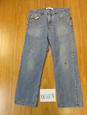 Used Levi 505 destroyed feather grunge jean tag 34x29 meas 33x28 18527F