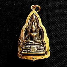 Thai Amulet Phra Buddha Chinnarat Brass Pendant Sacred Protect Lucky Charm D21