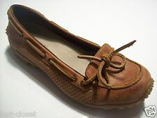 Merrell Marina Brown Leather Slip On Loafers Flats Oxford Shoes Size 6 @ cLOSeT