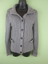 BANANA REPUBLIC Cashmere Blend Gray Cardigan Sweater SMALL F15