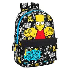 Premium Bart Simpson Backpack Large Rucksack School Travel The Simpsons Bag 46cm