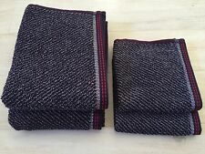 Tommy Hilfiger Set Of 4 Hand,Washcloth Towel Set Diagonal  Striped Navy Red Gray