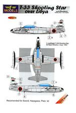 LF Models Decals 1/72 LOCKHEED T-33 SHOOTING STAR Libyan Air Force with Masks