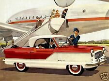 1962 Nash METROPOLITAN Coupe, Refrigerator Magnet, RED/WHITE, 40 MIL THICK