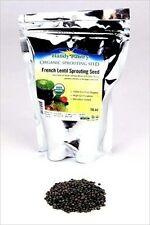 FRENCH BLUE LENTIL SPROUTING SEEDS -16 OZ- SPROUTS, SOUP, FOOD STORAGE, GARDEN