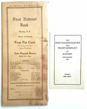 VINTAGE FIRST NATIONAL BANK OF RAMSEY NEW JERSEY BANKERS HANDI-FILE FOLIO