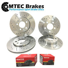 BMW E46 323 FRONT REAR Drilled Grooved Brake Discs Pad