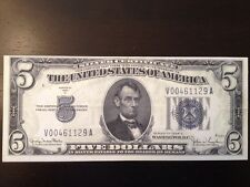 Reproduction United States $5 Bill Silver Certificate 1934D Abraham Lincoln Five