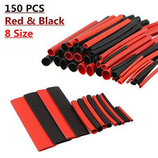 150Pcs Heat Shrink Tubing 2:1 Wrap Assortment Electrical Connection Cable 1-14mm