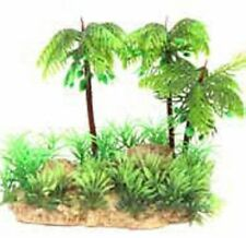 Reptile One R1-24352 Hermit Crab Palm Tree Island with Grasses 13x9x13cm