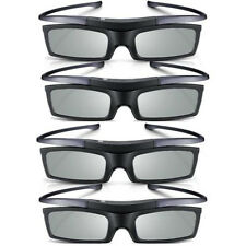 Lots of 4 New 4K HD UHD SUHD 3D Active TV Glasses For Sony Samsung Universal TV