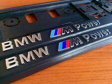2 x ECHTE 3D Kennzeichenhalter Kennzeichenverstär BMW ///M POWER Chrom NEU
