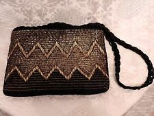 PETIT SAC  DE SOIREE BRODERIES DE PERLES ART DECO OR/NOIR / VINTAGE PEARLS BAG