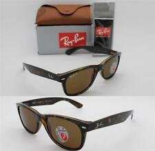 RAY BAN RB 2132 902/57 55MM NEW WAYFARER TORTOISE W/ BROWN POLARIZED LENSES