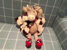 RARE JELLYCAT DONKEY SOFT TOY WEARING WOOLLY COAT AND ROSETTE J396