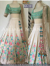 Designer Party Wear SarI Bridal Bollywood Indian Wedding Party Lehenga Choli New