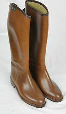 J.Crew Girls $149 Aigle Riding boots brown Rubber 1 shoes 51766 NEW