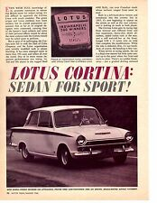 1966 FORD CORTINA  ~  ORIGINAL 4-PAGE ROAD TEST / ARTICLE / AD