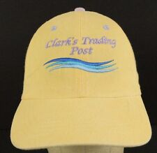 Clark's Trading Post Lincoln New Hampshire yellow Baseball Cap Hat Adjustable