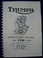 Triumph 3SW Instruction Manual 1940-45 - TH03