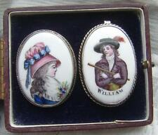 Vintage Plata bilston Esmaltes William de Naranja Colgante & Princesa Mary Broche