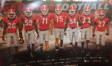 Georgia Bulldogs Football 2015 Team Schedule poster Nick Chubb Jordan Jenkins