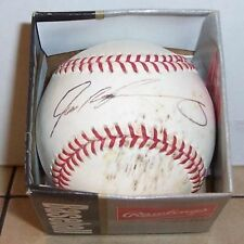 Ivan Rodriguez Autographed Game Used MLB Baseball Signed Yankees Marlins