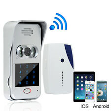 Wireless Wifi/IP Remote Unlock Camera Phone Intercom Video Doorbell Night Vision