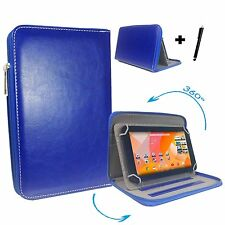 "7"" Case Cover Book For Jay-tech XE7D Multimedia Tablet Pc Tablet 7"" Zipper Blue"