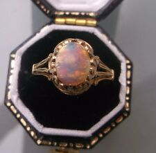 Women's 9ct Gold Quality Opal Stone Ring W1.9g Size L Stamped Quality Ring