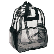 1 DOZEN CLEAR TRANSPARENT SCHOOL BACKPACK SHOULDER TRAVEL BOOK BAG WHOLESALE LOT