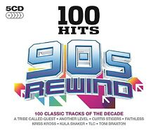 100 HITS-90'S REWIND 5 CD NEU TLC/ASWAD/FAITHLESS/CYPRESS HILL/RICK ASTLEY/+