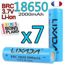 7 PILE RECHARGEABLE 18650 Li-ion 3.7V 2000Mah BATTERIE LIXADA • DEUTSCH •