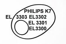COURROIES SET PHILIPS K7 EL3300 EL3301 EL3302 EL3003 MAGNETOPHONE A CASSETTES