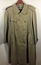 NWOT  Men's Burberry Trench Coat Size 40 Short Belted Classic Double Breasted