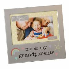 ME AND MY GRANDPARENTS  ALUMINIUM PHOTO PICTURE FRAME GIFT 6 X 4 - BY JULIANA