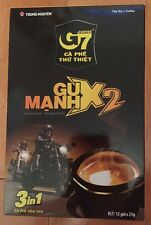 1 x Box Trung Nguyen G7 Gu-Manh X2 Extra-Large 3 in 1 Instant Vietnam Coffee New