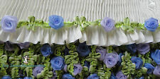Garland Ribbon Trim Magic Moon Glow Glitter Roses On  Ombre Passementerie