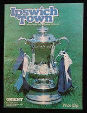 Vintage ipswich town v orient 1979 football programme fa cup soccer magazine