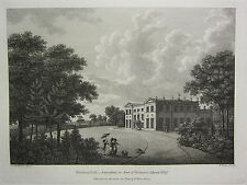 1785 DATED PRINT ~ WOOLTON HALL in LANCASHIRE THE SEAT OF NICHOLAS ASHTON